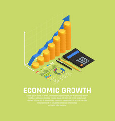 Investment funding isometric composition vector