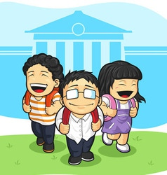 Kids Going Back to School vector