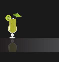 kiwi mojito vector image
