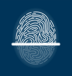 laser scanning of fingerprint futuristic vector image
