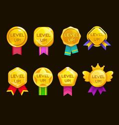Level up ui game icons casino bonus stars vector