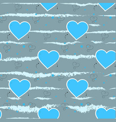 light blue hearts on a grey background heart vector image