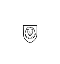 lion-lamb-logo vector image