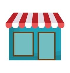 Local shop building vector