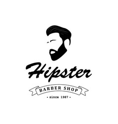 logo for barber shop vector image