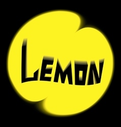 Logo lemon black background vector