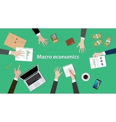 Macro economics concept discussion vector