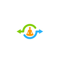meditation share logo icon design vector image