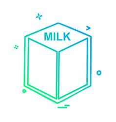 Milk icon design vector