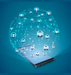 modern social media concept mobile internet vector image
