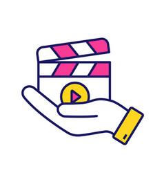 movie release color icon vector image