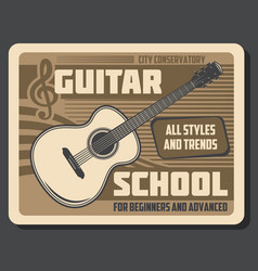music instruments guitar playing school vector image