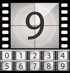 old film movie countdown frame vintage retro vector image