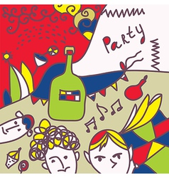 Party invitation funny design vector image
