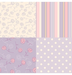 patterns vintage lavender vector image