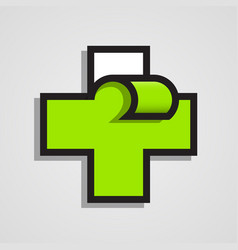 Pharmacy abstract green cross clean vector