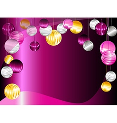 Pink and purple Christmas ornament background vector
