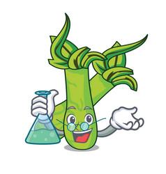 Professor wasabi character cartoon style vector