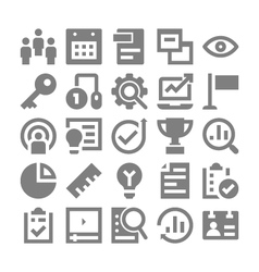 Project Management Icons 3 vector image