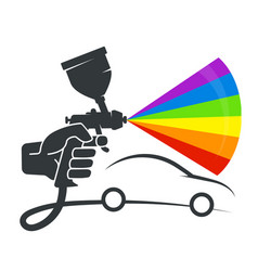 Pulverizer in the hand of car coloring vector