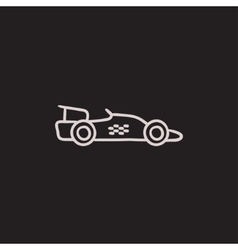 Race car sketch icon vector image