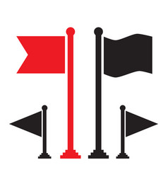 red flag and black flag icon vector image