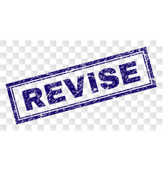 Scratched revise rectangle stamp vector