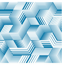 Seamless isometric lines geometric pattern 3d vector