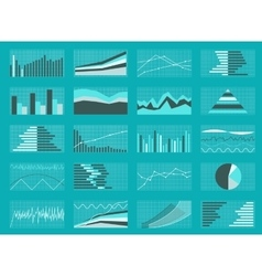 Set graphs and charts data statistic vector