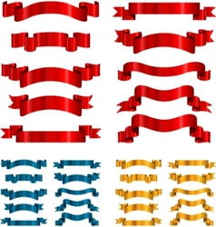 set ribbons banners isolated on white vector image