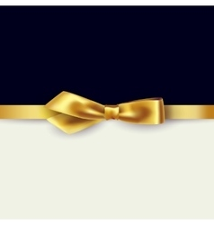 Shiny gold satin ribbon vector image