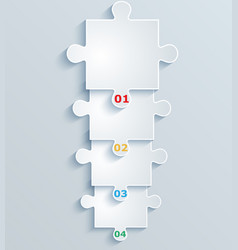 step by step parts puzzles vector image