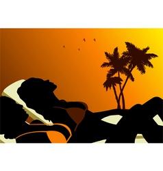 Sunbathing vector image