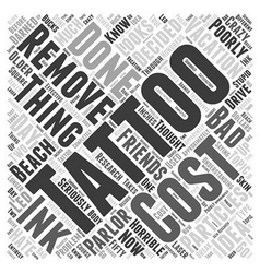 tattoo removal Word Cloud Concept vector image
