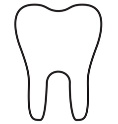 Teeth Icon Outline vector image