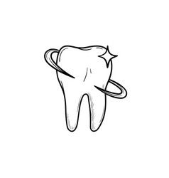 tooth health and dental care hand drawn outline vector image