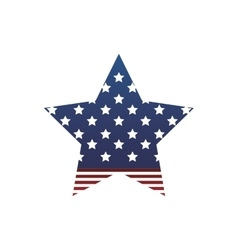 Usa flag star patrotism culture blue red icon vector image