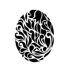 Vintage black egg background vector