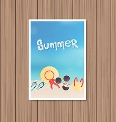 Vintage summer poster vector