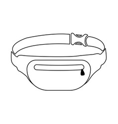 waist bag icon on white vector image