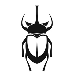 Weevil beetle icon simple style vector
