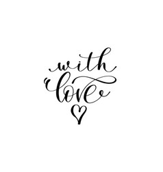 with love hand lettering inscription vector image