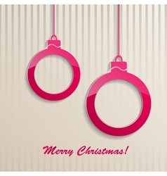 Christmas background with Christmas balls vector image