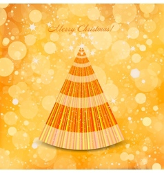 Christmas gold background with tree vector image vector image