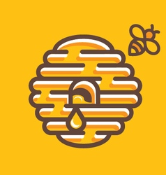 hive and bee vector image