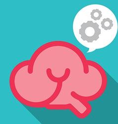Smile brain work smart vector image vector image