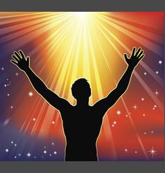 spiritual joy vector image