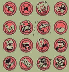 15 Logo Cartoon Hobbies vector image vector image