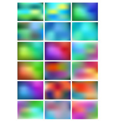 abstract gradient backgrounds set abstract vector image vector image