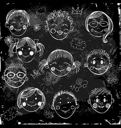 children group vector image